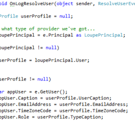 Application User Resolution Handler