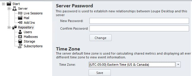 Loupe Server Time Zone Config